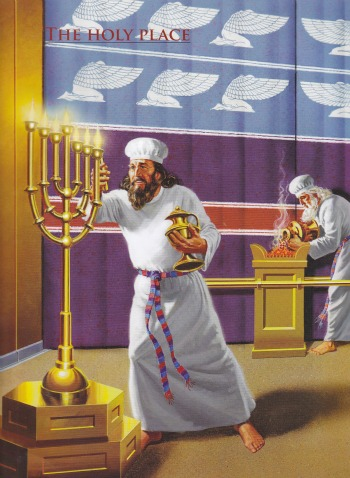 Here in the second dimension the Kohen....Aharon assistant will tend the lamps...did you see behind you!!! which am about to go next the Altar of Incense